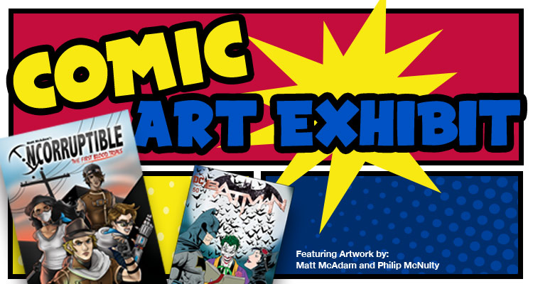 comic art exhibit starting September 3rd