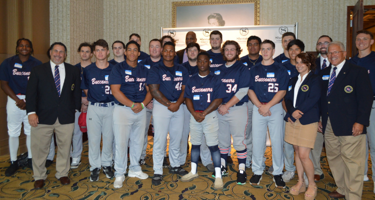 baseball team serves as ushers for gala and meet baseball legend