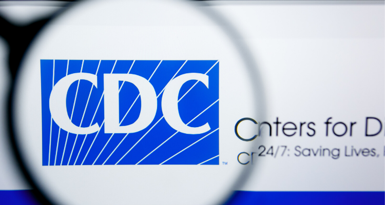 magnifying glass that says CDC